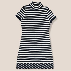 Merino Wool Cashmere Striped Sweater Dress NWT
